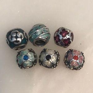 Pandora enamel charms